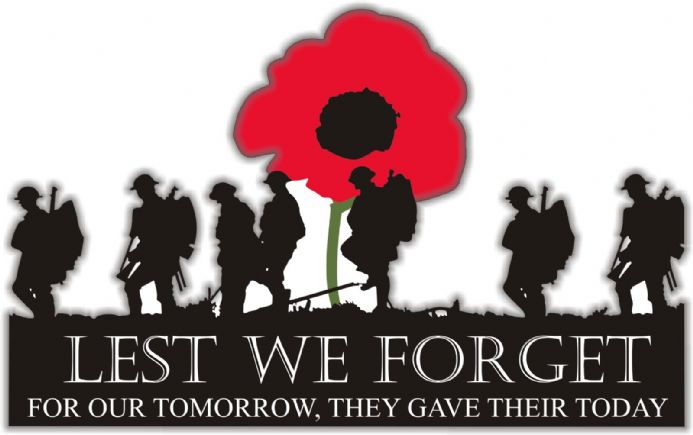 Soldiers and Poppy Car Window Sticker - For Our Tomorrow